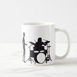evolution drummer kaffeetasse