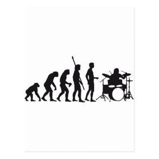 evolution drummer postkarte