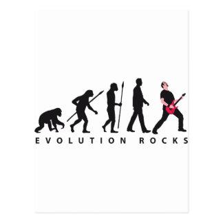 evolution e-guitar rock postkarte