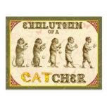 Evolution eines Fängers Postkarte