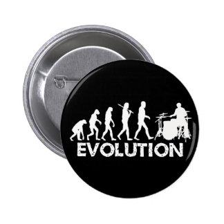 Evolution eines Schlagzeugers Anstecknadel