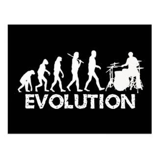 Evolution eines Schlagzeugers Postkarte