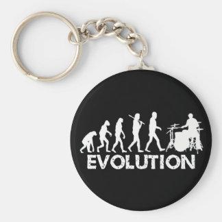 Evolution eines Schlagzeugers Standard Runder Schlüsselanhänger