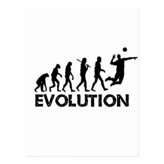 Evolution eines Volleyball-Spielers Postkarte
