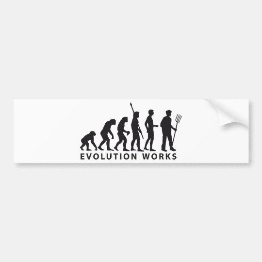 evolution farmer autoaufkleber