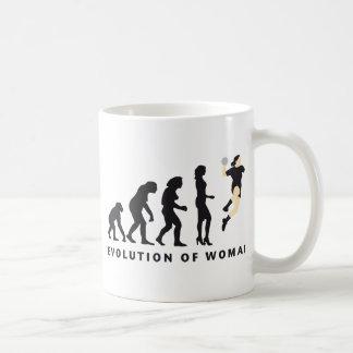 evolution female handball kaffeetasse
