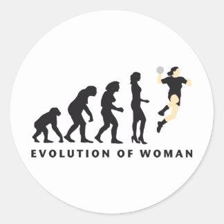 evolution female handball runder aufkleber