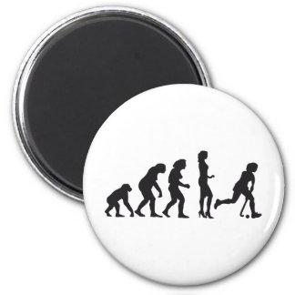 evolution female hockey runder magnet 5,7 cm