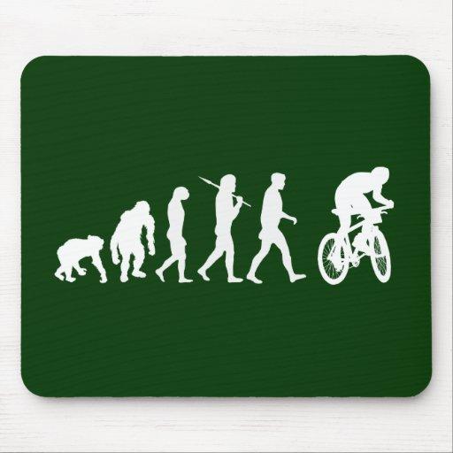 Evolution Gebirgsder radfahrenden Gebirgsradfahrer Mousepads