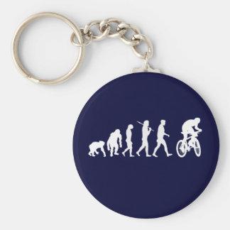 Evolution Gebirgsder radfahrenden Gebirgsradfahrer Schlüsselanhänger