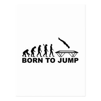 Evolution geboren, Trampoline zu springen Postkarte