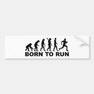 Evolution geboren zu laufen autoaufkleber