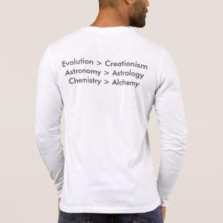 Evolution gegen Kreationismus-langes Hülsen-Shirt Tshirts