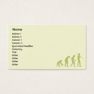 Evolution - Geschäft Visitenkarte
