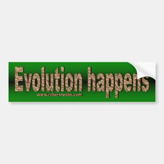 Evolution geschieht autoaufkleber