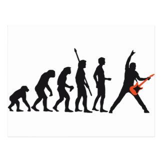 evolution guitar postkarte
