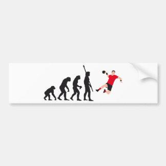 evolution handball autoaufkleber