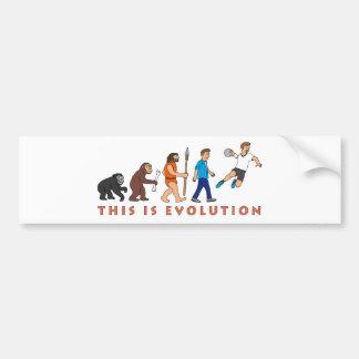 Evolution Handball Comic Style Autoaufkleber
