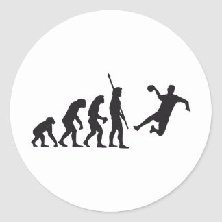 evolution handball runder aufkleber