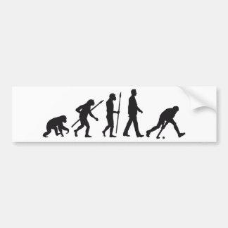 evolution hockey player autoaufkleber