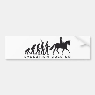 evolution horse riding autoaufkleber