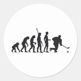 evolution icehockey runder aufkleber