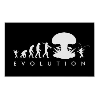 Evolution Mann-u. Schaben-des lustigen Poster
