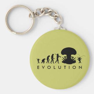 Evolution Mann-u. Schaben-des lustigen Schlüsselanhänger
