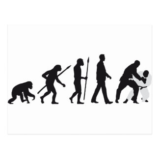 evolution martial arts postkarte