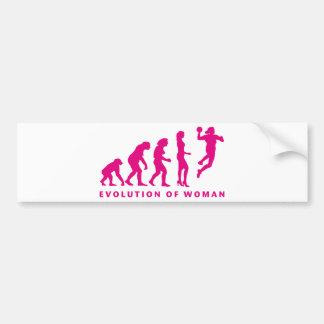 evolution of handball woman autoaufkleber