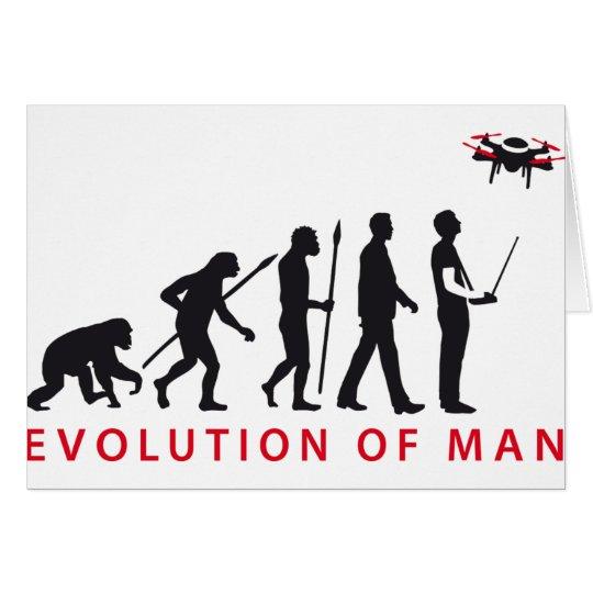 evolution of man controlling drone karte