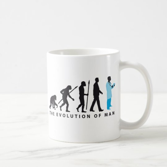 evolution of man doctor of medicine physician kaffeetasse