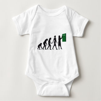 evolution of man female teacher baby strampler