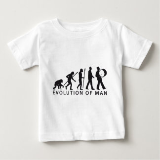 evolution of man marching band flute timpani baby t-shirt