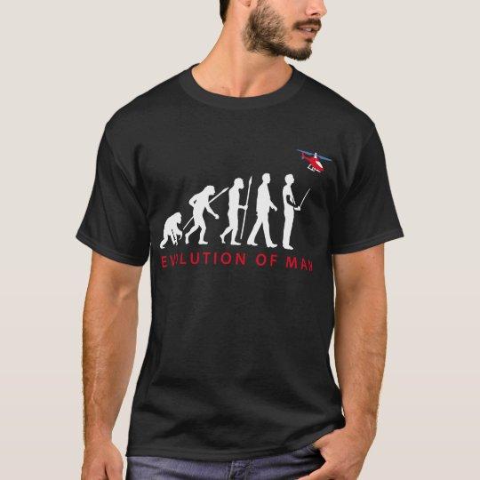 evolution of man modelling helicopter T-Shirt