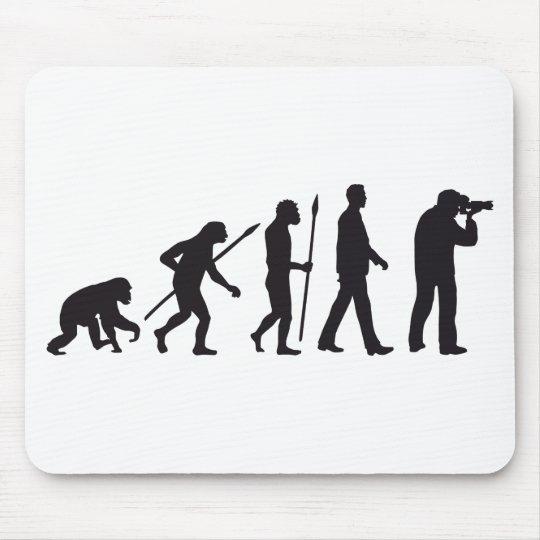 evolution of man photographer mauspad