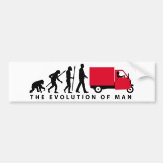 Evolution of man Piaggio Ape mini transporter Autoaufkleber