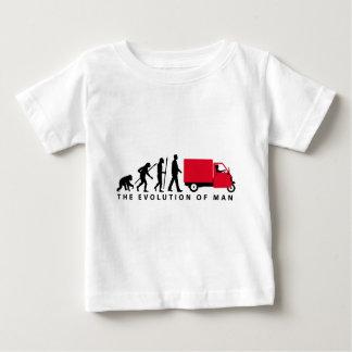 Evolution of man Piaggio Ape mini transporter Baby T-shirt