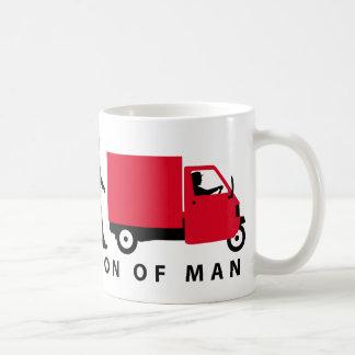 Evolution of man Piaggio Ape mini transporter Kaffeetasse