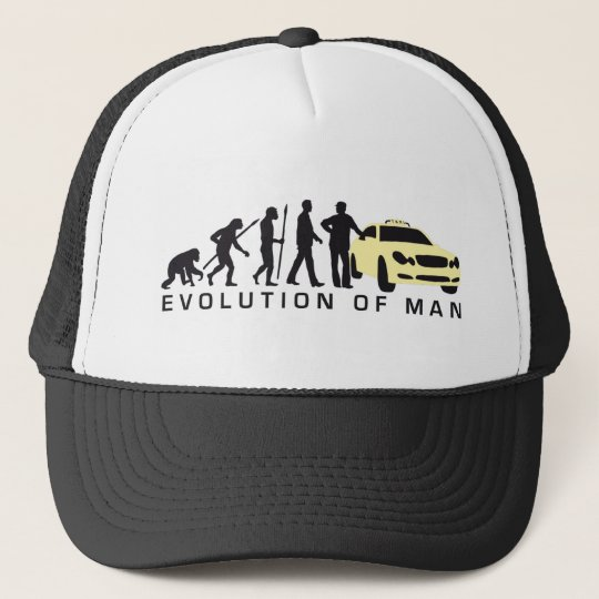 evolution of man taxi driver truckerkappe