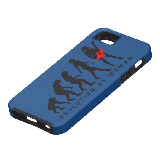 evolution of woman female e-guitar player iPhone 5 etuis