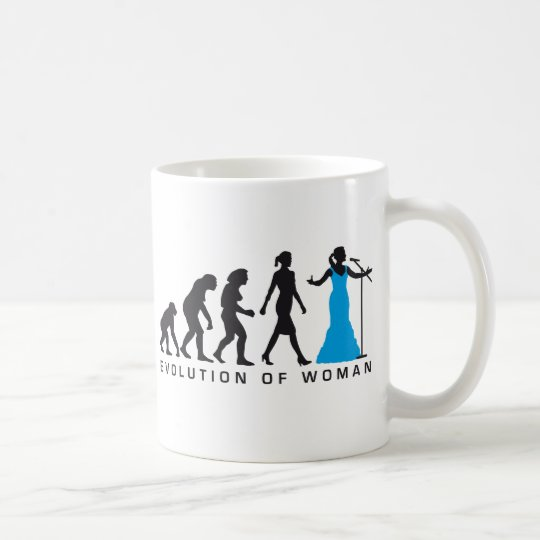 Evolution of woman female opera singer kaffeetasse