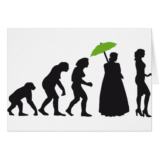 evolution of woman karte