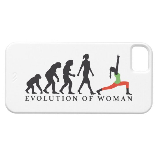 evolution of woman yoga position etui fürs iPhone 5