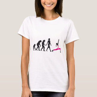evolution of woman yoga position T-Shirt