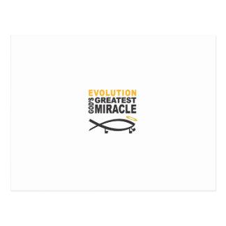 Evolution Postkarte