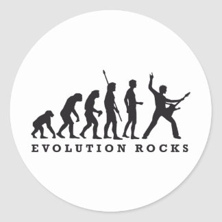 evolution rocks runder aufkleber