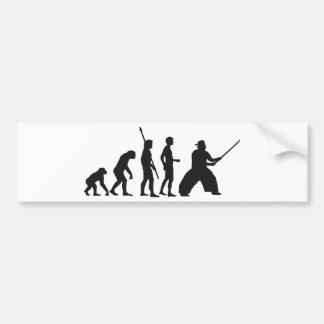 evolution samurai autoaufkleber