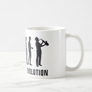 Evolution saxophon kaffeetasse