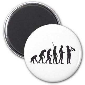 Evolution saxophon runder magnet 5,1 cm